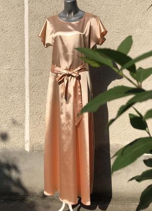 Довга святкова сукня персикового кольору shalaj