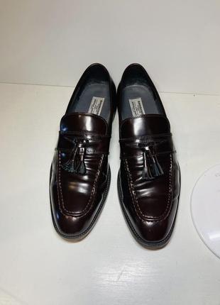 Туфли мужские кожаные лоферы 41 размер