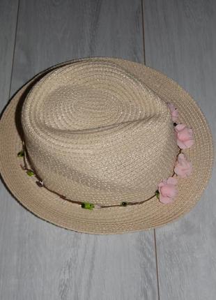 Соломенная шляпа на 6-9л.