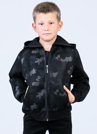 Джинсовая куртка джинсовка камуфляжная для мальчика на рост 122, 128, 134, 140, 146, 152