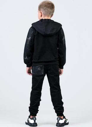 Джинсовая куртка джинсовка камуфляжная для мальчика на рост 122, 128, 134, 140, 146, 1522 фото