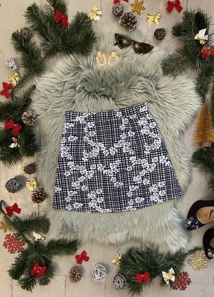 Распродажа!!! актуальная плотная фактурная юбка а-силуэта #40
