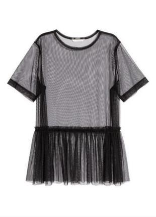 Оригинальная блуза топ сетка  h&m