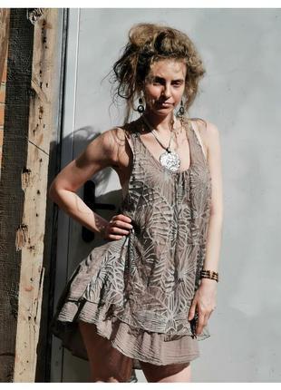 Платье с кружевом коттон хлопок вискоза мини короткое с рюшами кружево сарафан