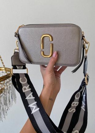 Женская сумка в стиле marc jacobs snapshot silver.