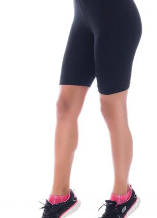 Чёрные велосипедки женские шорты треки вискоза