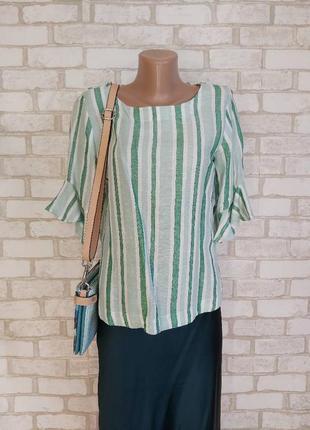 Фирменная marks & spenser блуза на 62%лен и 38% хлопок в с воланами, размер м-л