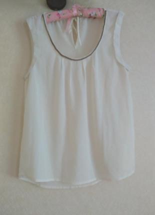 Review элегантная летняя блуза блузка топ майка к костюму как новая