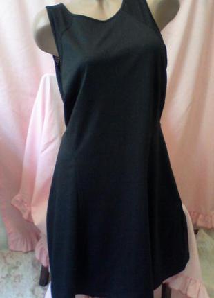 Чёрное трикотажное платье на осень недорого классика m&s limited edition