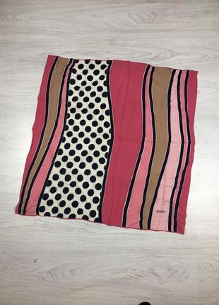 Красивый легкий шелковый платок loredano италия