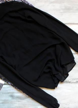 Базовая чёрная блуза zara в два слоя