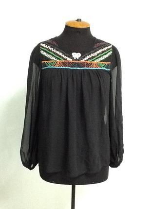 Блузка шифоновая с бисером