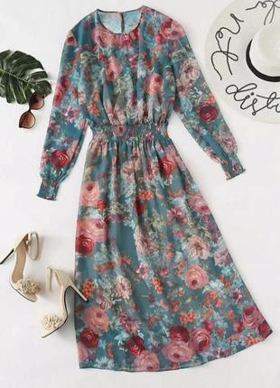 Платье в цветочный принт zara next asos f&f h&m manro