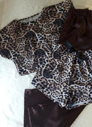 Пижама с шортами,комплект для отдыха и дома
