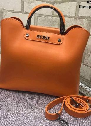 Качественная женская сумка на 3 отделения из экокожи