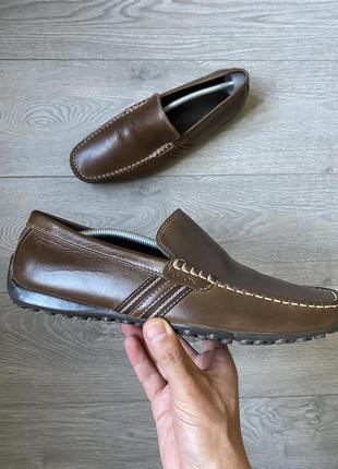 Шикарные кожаные туфли geox размер 44 28 см