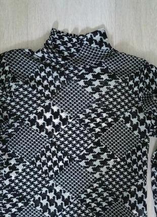 Лонгслив carolin biss m,s черный с белым4 фото