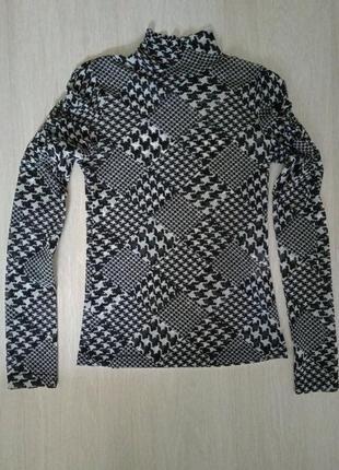 Лонгслив carolin biss m,s черный с белым3 фото