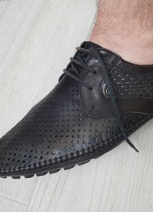 Туфли мокасины лоферы кожа 41-42 размер