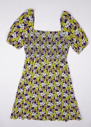 Цветочное платье на плечи