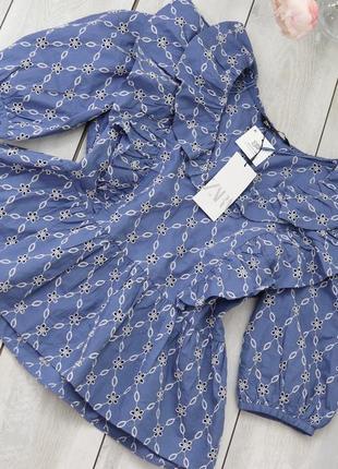 Блуза из прошвы кружева zara