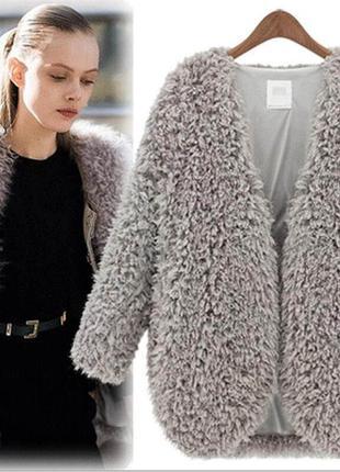 Очень классный модный теплый кардиган курточка на меху  sweet miss