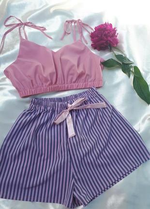 Пижама с шортами , домашний комплект, комплект для отдыха