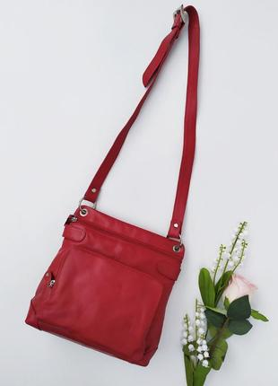 Кожаная вместительная сумочка кросбоди smith canova