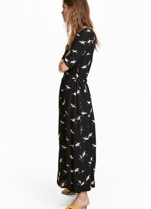 Платье с птичками от h&m, новое, s-m