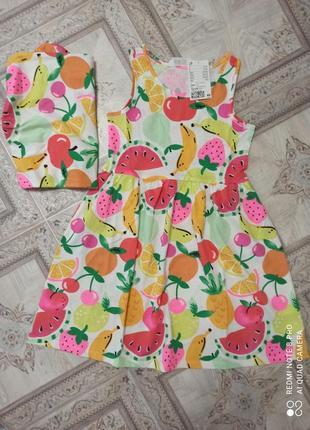 Платье с фруктами фирмы ,6-8 лет