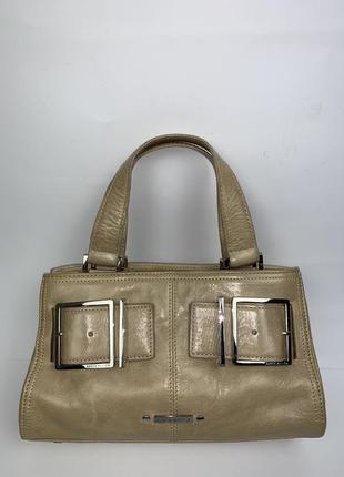Англия! кожаная фирменная летняя сумочка на/ в руку karen millen.(3 отделения).