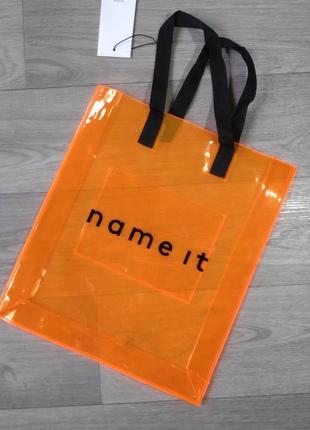 Прозрачная оранжевая силиконовая сумка пляжная сумка name it