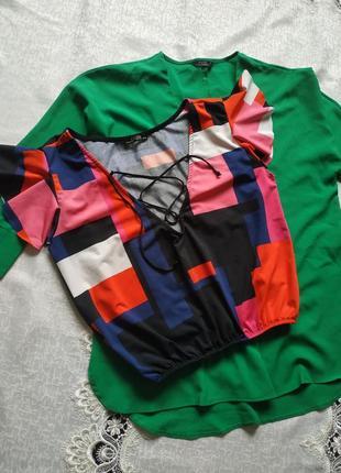 Топ блуза уклроченная