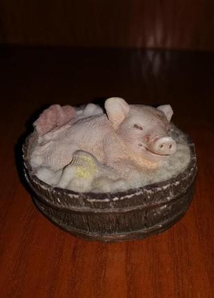 🧡статуэтка, фигурка свинка, поросенок в лежаке🧡