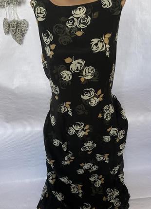 Шикарное нежное платье в пол из шёлка laura ashley