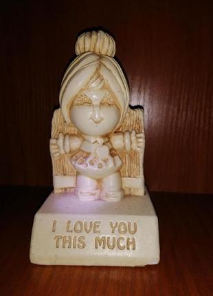 💛винтажная статуэтка paula 1972 i love you this much 💛