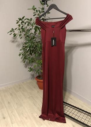 Вечернее платье бордовое вечернее платье