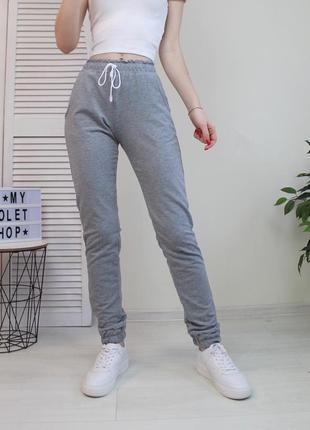 Спортивные штаны джогеры серые