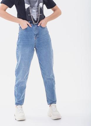 💣голубые джинсы мом стильные слоучи джинсы бананы kingfield 2xl-3xl