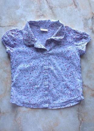 Легкая и стильная рубашка на девочку фирмы next на возраст 12-18 мес