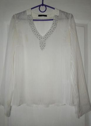 Sasch, біленька блузка вишита бісером