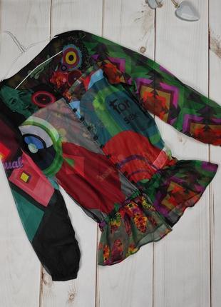 Блуза новая легкая цветочная 100% оригинал desigual s