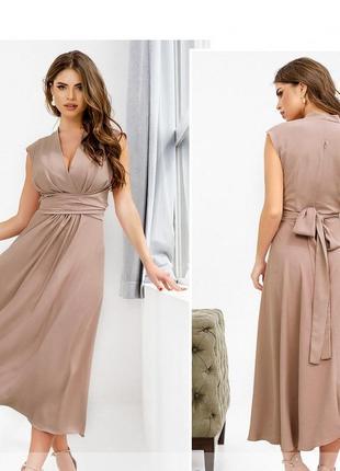 Элегантное платье размеры 42, 44, 46, 48, 50, 52  (1082)