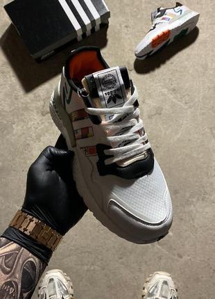 Adidas nite jogger🆕мужские разноцветные дышащие кроссовки адидас 🆕летние кроссовки