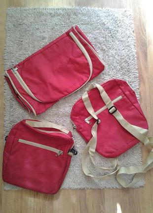 Сумка-трансформер спортивная 3-в-1 дорожная, рюкзак, мессенджер oriflame