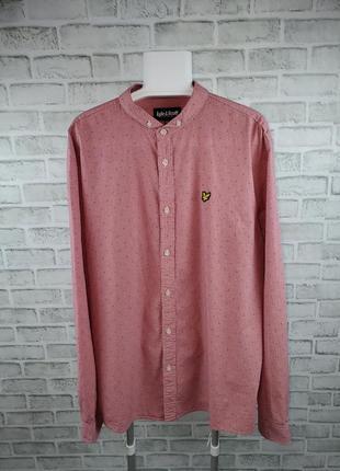 Рубашка с воротником стойкой lyle & scott