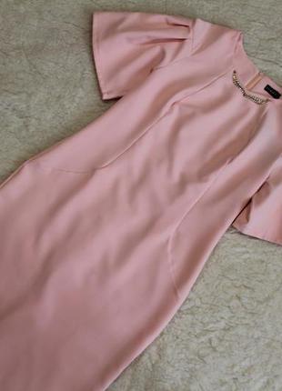 Святкова сукня пудрово-рожевого кольору 48, 50, 52 розмірів