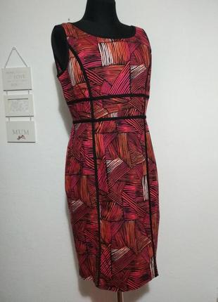 Фирменное роскошное натуральное 100% котоновое стройнящее платье футляр качество!2 фото