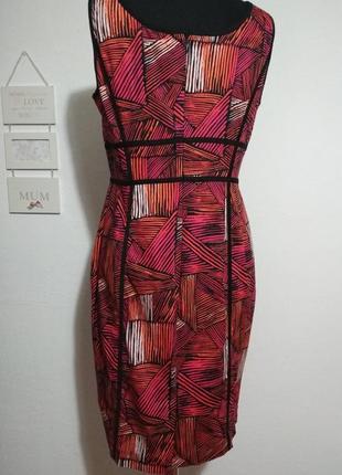 Фирменное роскошное натуральное 100% котоновое стройнящее платье футляр качество!4 фото