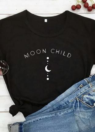 Хлопковая футболка moon child 🌙